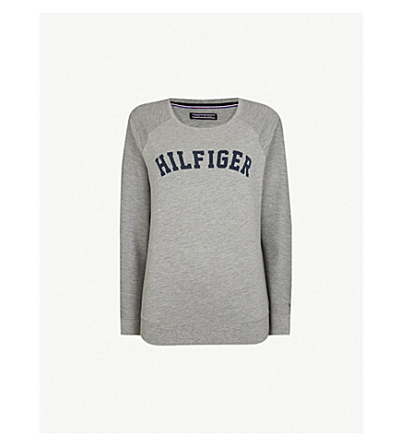 TOMMY HILFIGER Iconic jersey top (Grey+heather