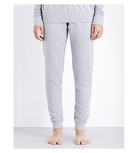 TOMMY HILFIGER Iconic slim-fit jersey jogging bottoms (Grey+heather
