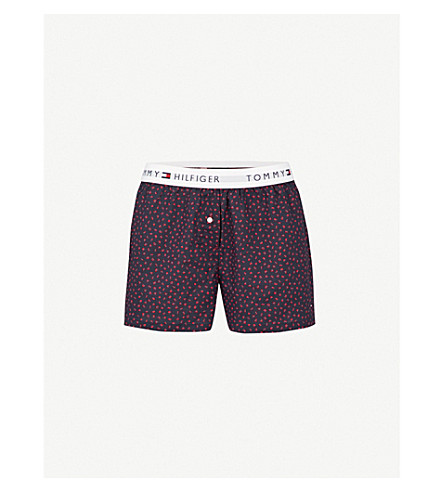 TOMMY HILFIGER Printed cotton-woven boxer shorts (Navy+blazer
