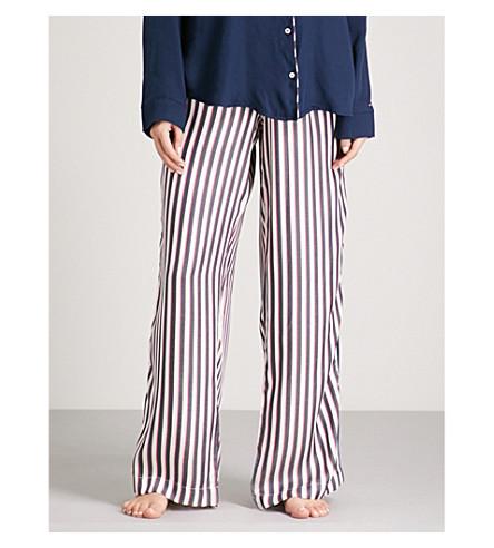 TOMMY HILFIGER Striped woven pyjama bottoms (Raspberry+wine