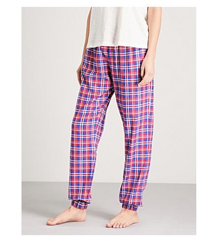 TOMMY HILFIGER Checked cotton-flannel pyjama bottoms (Crimson