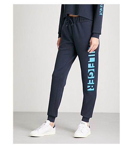 TOMMY HILFIGER Logo-print stretch-jersey jogging bottoms (Navy+blazer