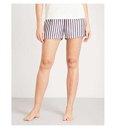 TOMMY HILFIGER Striped woven boxer shorts (Raspberry+wine