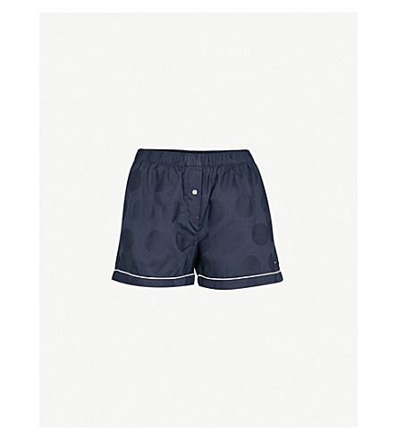 TOMMY HILFIGER Cotton-jacquard pyjama shorts (Navy+blazer