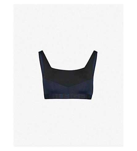 TOMMY HILFIGER Stretch sports bra (Black+navy+blazer