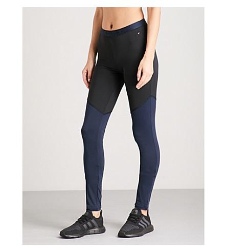 TOMMY HILFIGER Skinny stretch-jersey leggings (Black+navy+blazer