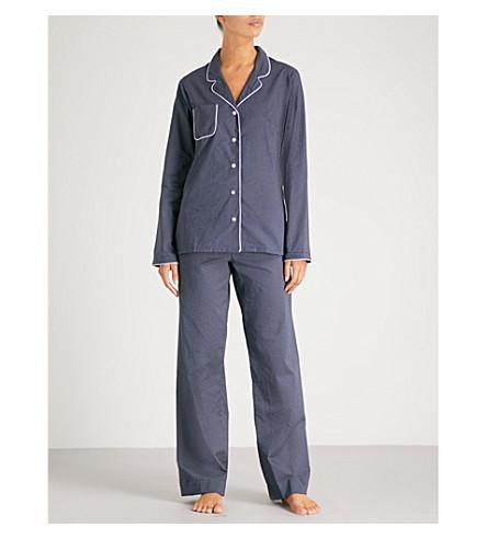 Popular And Cheap Lowest Price DEREK ROSE Plaza polka dot cotton pyjama set Nav 7RXPv9B
