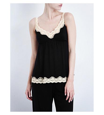 EBERJEY Lady Godiva jersey camisole (Black/beige