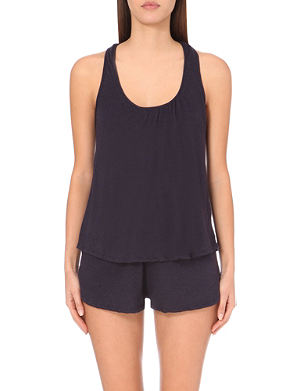 EBERJEY Heather shelf-bra racerback vest