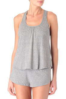 EBERJEY Heather racer-back vest top