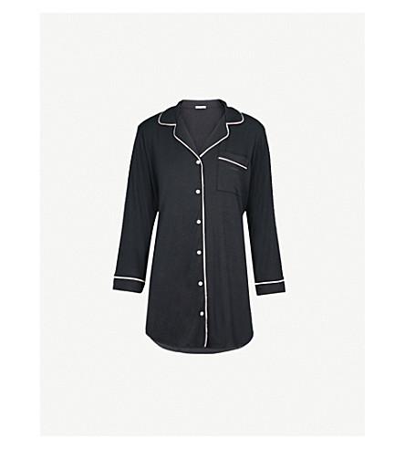 EBERJEY Gisele jersey sleep shirt (Black/sorbet+pink