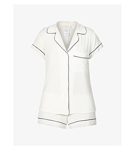 EBERJEY Gisele jersey pyjama set (Ivory/navy