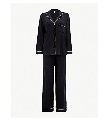 EBERJEY Gisele jersey pyjama set (Black/sorbet+pink
