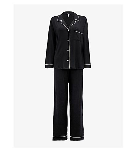 EBERJEY 吉赛尔·邦平纹针织面料睡衣套装 (黑/雪糕 + 粉红色