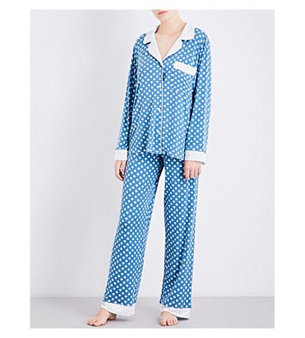 EBERJEY Noche De Luna jersey pyjama set (Ivory/stellar+blue