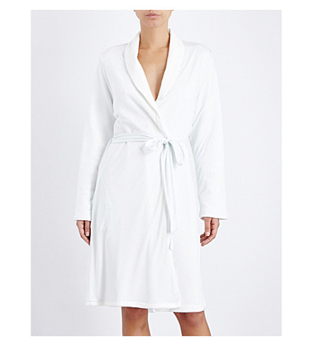 EBERJEY Alpine chic classic jersey robe (Barely+blue