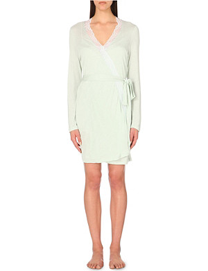 EBERJEY Paloma lace robe
