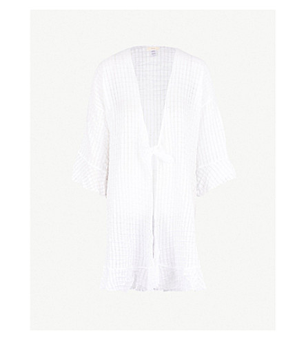 EBERJEY Paz the Breezy textured-cotton robe (White