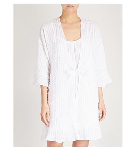 EBERJEY Paz the Breezy textured-cotton robe (White