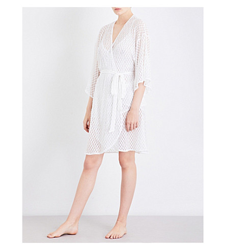 EBERJEY Love Always lace robe (Magnolia