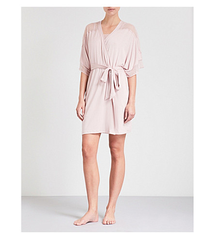 EBERJEY EBERJEY robe rose jersey Greta mesh Cashmere Greta and z7xa7