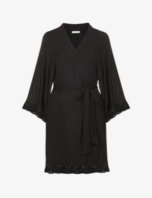 Colette Mademoiselle Kimono Robe in Black
