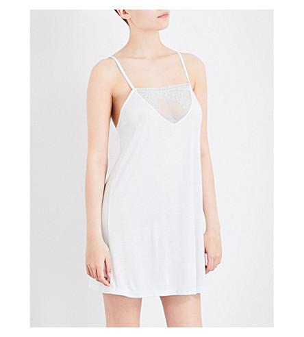 EBERJEY Valeria jersey and stretch-lace chemise (Light+mint/mint+splash
