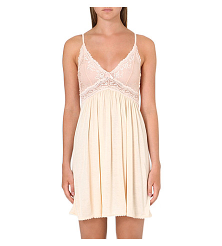 EBERJEY Colette jersey and lace chemise (Shell