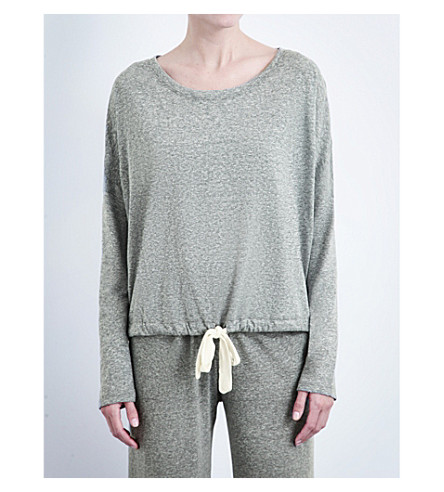 EBERJEY Heather jersey pyjama top (Heather+grey