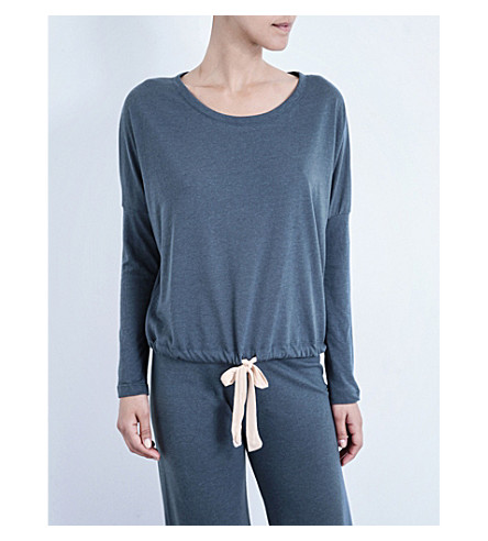 EBERJEY Heather jersey pyjama top (Beach+blue