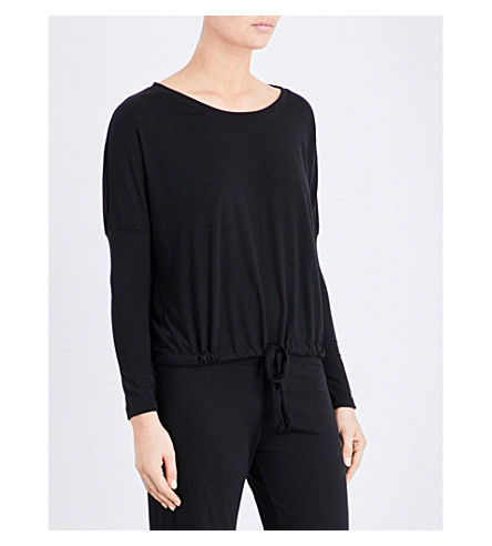 EBERJEY Heather jersey pyjama top (Black