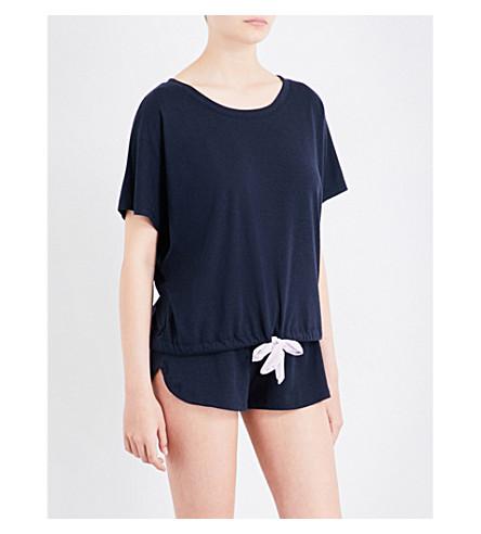 EBERJEY Heather jersey T-shirt (Infinity+blue/frag+lilac