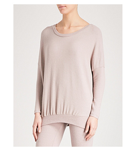 EBERJEY Cosy Time knitted top (Fawn