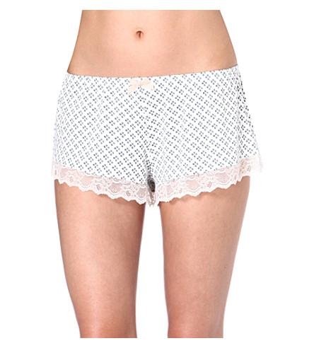 EBERJEY Petite Batik shorts (Cyan