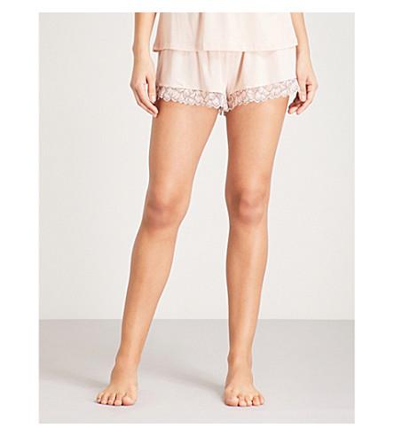 EBERJEY Rosario lace and jersey pyjama shorts (Pink+tint+black
