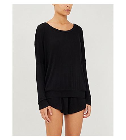 EBERJEY Elon jersey pyjama shorts (Black