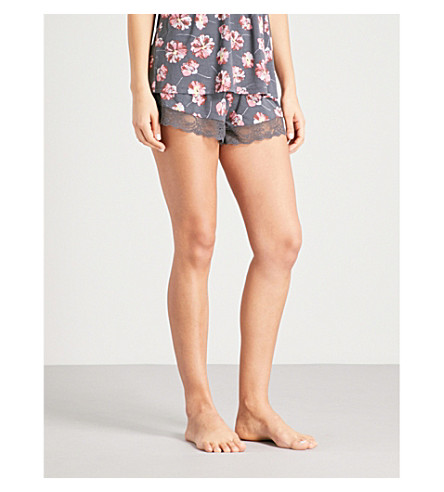 EBERJEY Veranda jersey pyjama shorts (Multi
