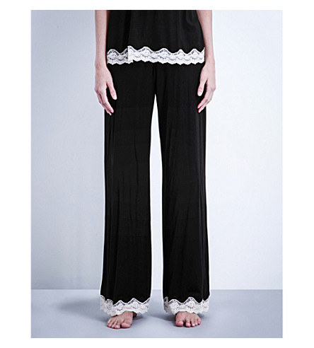EBERJEY Lady Godiva jersey pyjama bottoms (Black/beige
