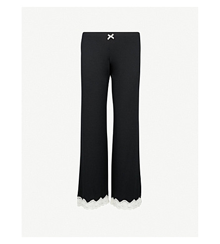 EBERJEY Lady Godiva jersey pyjama bottoms (Black/off+white
