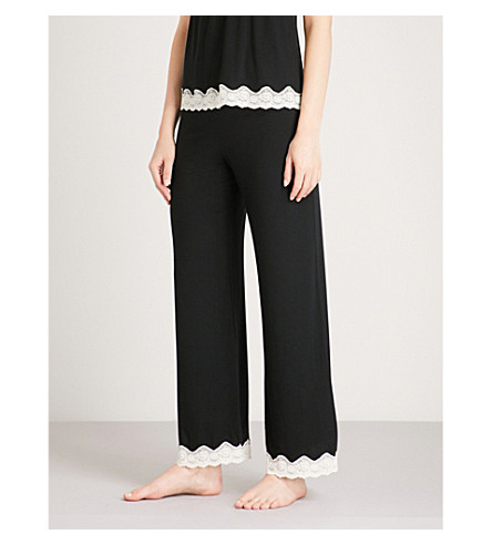 EBERJEY Lady Godiva jersey pyjama bottoms (Black/off+white