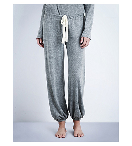 EBERJEY Heather jersey pyjama bottoms (Heather+grey
