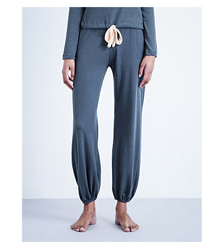 EBERJEY Heather jersey pyjama bottoms (Beach+blue