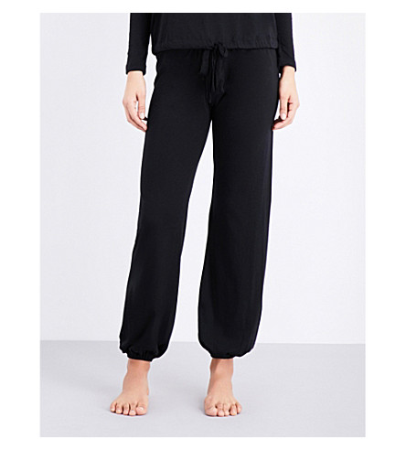 EBERJEY Heather jersey pyjama bottoms (Black