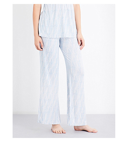 EBERJEY Diamond Maze jersey pyjama bottoms (Creole+pink+blue