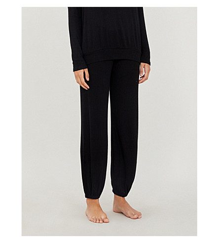 EBERJEY Elon jersey pyjama bottoms (Black
