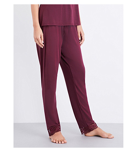 EBERJEY Lila jersey pyjama trousers (Vineyard+wine