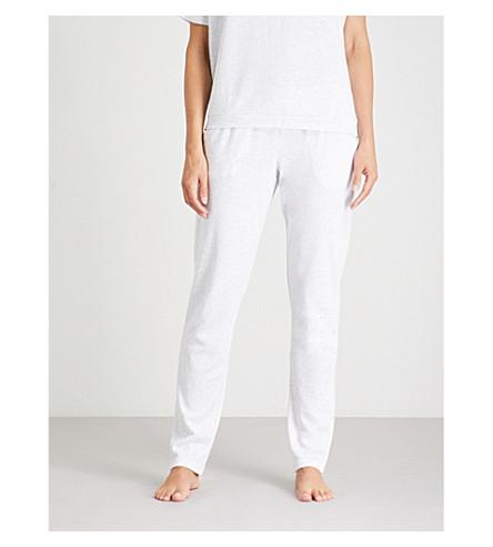 EBERJEY Leonor cotton-blend pyjama bottoms (Ice+grey