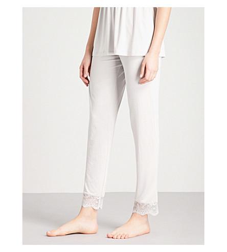 EBERJEY Talia stretch-jersey pyjama bottoms (Oyster+grey