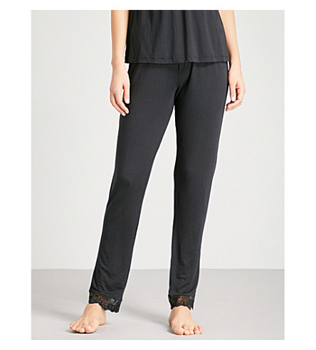 EBERJEY Ariza jersey pyjama bottoms (Black