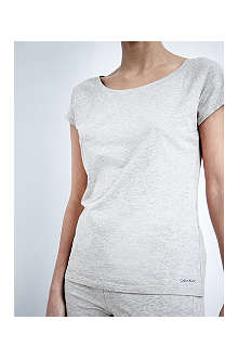 CALVIN KLEIN Cotton-blend pyjama top